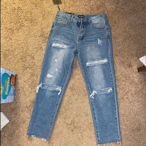 Ripped Mom Jeans from Pretty Little Thing!!